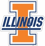Illinois Fighting Illini 12'' Vinyl Magnet [58798-FS-BSI]