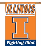 Illinois Fighting Illini 2-Sided 28'' X 40'' Banner with Pole Sleeve [96041-FS-BSI]