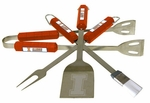Illinois Fighting Illini 4 Pc Bbq Set [61041-FS-BSI]
