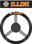 Illinois Fighting Illini Poly-Suede Steering Wheel Cover [58523-FS-BSI]