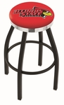 Illinois State University 25'' Black Wrinkle Finish Swivel Backless Counter Height Stool with Chrome Accent Ring [L8B2C25ILLSTU-FS-HOB]