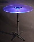 Illuminated Pedestal Table [TA30-LED-CSP]