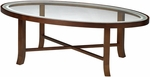 Illusion 48'' W x 24'' D x 16'' H Coffee Table - Glass Tops with Bourbon Cherry Base [M106CSCR-FS-MAY]