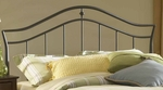 Imperial Classic Metal Headboard with Rails - Full or Queen - Twinkle Black [1546HFQR-FS-HILL]