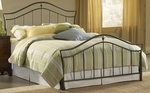 Imperial Classic Metal Bed Set with Rails - King - Twinkle Black [1546BKR-FS-HILL]