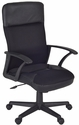 Imperial Adjustable High Back 21'' to 24''H Executive Chair with Casters - Black