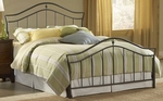 Imperial Classic Metal Bed Set with Rails - Queen - Twinkle Black [1546BQR-FS-HILL]