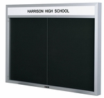 Imperial Series Bulletin Board Cabinet [300-CLA]