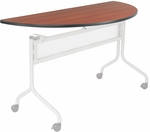 Impromptu® 48'' W x 24'' D Mobile Training Table with Half Round Top - Cherry [2068CY-SAF]