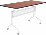 Impromptu® 72'' W x 24'' D Mobile Training Table with Rectangle Top - Cherry [2067CY-SAF]