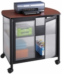 Impromptu® 34.75'' W x 25.25'' D x 30.75'' H Deluxe Machine Stand with Doors - Black [1859BL-SAF]
