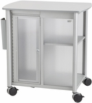 Impromptu® 25.25'' W x 17.25'' D x 26.75'' H Personal Mobile Storage Center - Gray [5377GR-FS-SAF]