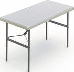 IndestrucTABLE TOO 24'' W x 48'' D Folding Table - Platinum [65203-ICE]