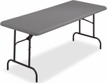 IndestrucTABLE TOO 30'' W x 60'' D Folding Table - Charcoal [65217-ICE]