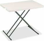 IndestrucTABLE TOO 30'' W x 20'' D Personal Rectangular Folding Table - Platinum [65490-ICE]