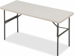 IndestrucTABLE TOO 24'' W x 60'' D Rectangular Folding Table - Platinum [65373-ICE]
