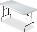 IndestrucTABLE TOO 30'' W x 60'' D Rectangular Utility Table - Platinum [65313-ICE]