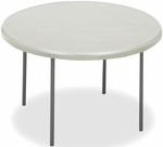 IndestrucTABLE TOO 48'' Diameter Round Folding Table - Platinum [65243-ICE]
