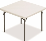 IndestrucTABLE TOO 37'' Square Folding Table - Platinum [65273-ICE]