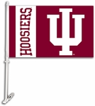 Indiana Hoosiers Car Flag with Wall Brackett [97023-FS-BSI]