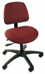 Industrial Cloth ABS Base Task Chair with Dual Wheel Casters and Large Ergo Backrest [CT-1-LEB-C-FS-BRWD]