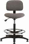 Industrial Cloth ABS Base Task Chair with Glides and Footring [CS-3-FS-BRWD]
