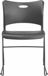 Indy 300 Series Multipurpose Sled Base Stacking Chair with Black Frame [IN233B-FS-SEA]