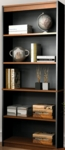Innova 5 Shelf Bookcase with Adjustable Shelving - Tuscany Brown and Black [92700-3163-FS-BS]
