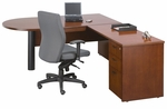 Insignia Series 72''W L-Shaped Wooden Desk with 42'' Return - Luna Cherry [I-CL-7278-CDB-RTN-LC-FS-CPL]