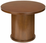 Insignia Series 42'' Round Wooden Conference Table - Luna Cherry [I-CCT-42R-D-LC-FS-CPL]