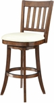 Inspired By Bassett Mission 30'' Bar Stool with Eco Leather Seat - Cream [BP-MSST30-EC28-FS-OS]