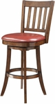 Inspired By Bassett Mission 30'' Bar Stool with Eco Leather Seat - Crimson Red [BP-MSST30-EC19-FS-OS]