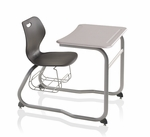 Intellect Wave Double Entry Desk With Book Rack [IWDEHBR-KI]