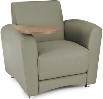 InterPlay Tablet Taupe Chair Bronze Finish 821 PU607 BRONZ By OFM BizCha