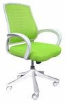 Iona Mesh Chair with White Frame - Green [60-51840006-FS-COM]