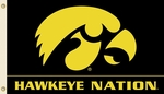 Iowa 'Hawkeye Nation' 3' X 5' Flag with Grommets [95524-FS-BSI]