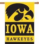 Iowa Hawkeyes 2-Sided 28'' X 40'' Banner with Pole Sleeve [96024-FS-BSI]