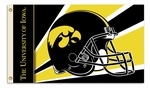 Iowa Hawkeyes 3' X 5' Flag with Grommets - Helmet Design [95324-FS-BSI]