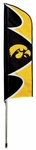 Iowa Hawkeyes Swooper Flag w/ Pole [SFIA-FS-PAI]