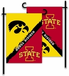 Iowa - Iowa State 2-Sided Garden Flag - Rivalry House Divided [83922-FS-BSI]