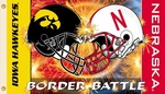 Iowa - Nebraska 3' X 5' Flag with Grommets - Rivalry House Divided [95554-FS-BSI]