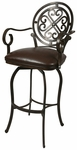 Island Falls 26''H Swivel Barstool with Arms [IF-217-26-AR-945-FS-PSTL]