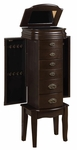 Italian Influenced Transitional ''Espresso'' Jewelry Armoire [358-315-FS-PO]