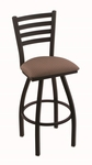 Jackie 25'' Black Wrinkle Finish Counter Height Swivel Stool with Gr 1 Axis Willow Fabric Seat [41025BWAXSWIL-FS-HOB]