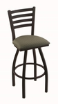 Jackie 25'' Black Wrinkle Finish Counter Height Swivel Stool with Gr 1 Axis Grove Fabric Seat [41025BWAXSGRV-FS-HOB]