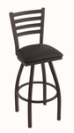 Jackie 30'' Black Wrinkle Finish Swivel Barstool with Black Vinyl Seat [41030BWBLKVINYL-FS-HOB]