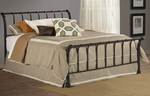 Janis Metal Sleigh Bed Set with Rails - Queen - Textured Black [1655BQR-FS-HILL]