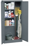 30'' W x 15'' D x 66'' H Janitorial Supply Closet - Charcoal [VFC1-301566-02-EEL]