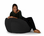 3 ft Classic Saxx Bean Bag - Black Microsuede