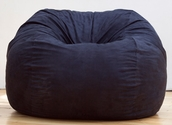 Jaxx Classic Saxx 3 ft Bean Bag - Black Microsuede
